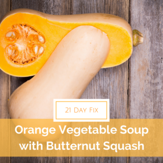 Perfect soup for any occasion! 21 Day Fix approved with tons of yummy veggies, including butternut squash.